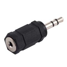 Přepojka / redukce 3,5mm jack samec - 3 piny na 2,5mm jack samice - bez kabelu - černá