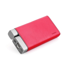 Externí baterie / power bank PURIDEA - 20000 mAh - 2x USB, 3A - vstup Micro USB + USB-C - červená