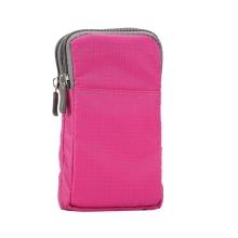 Brašna / pouzdro - multifunkční - popruh za opasek / přes rameno + karabina pro Apple iPhone - růžová