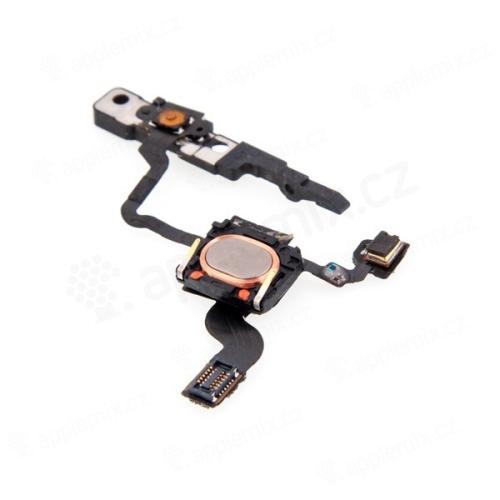 Flex se spínačem power, horním repro / sluchátkem, SMD mikrofonem a proximity pro Apple iPhone 4 - demontovaný (used)
