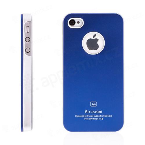 Stylový hliníkový kryt Air Jacket pro Apple iPhone 4   4S - tmavě modrý  8c41694fef9