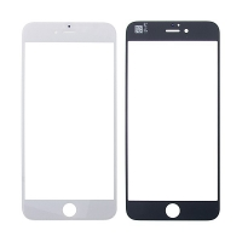 Náhradní přední sklo pro Apple iPhone 6 Plus - bílý rámeček - kvalita A
