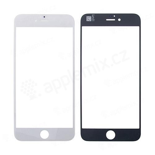 Náhradní přední sklo pro Apple iPhone 6 Plus - černý rámeček