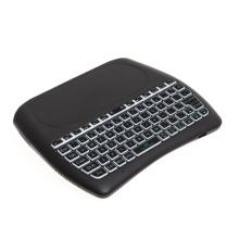Bluetooth klávesnice D8 pro Apple zařízení a ovládání TV + touchpad - černá