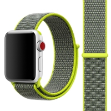Řemínek pro Apple Watch 40mm Series 4 / 38mm 1 2 3 - nylonový - zelený