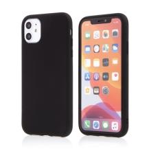 Kryt pro Apple iPhone 11 - příjemný na dotek - silikonový - černý