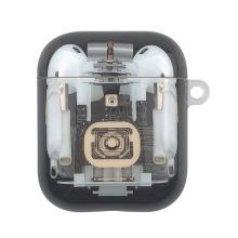 Pouzdro / obal pro Apple AirPods - elektronické součástky - plastové - černé