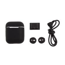 Sada 4v1 pro Apple Airpods - silikonová - černá
