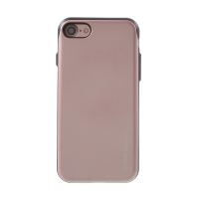 Kryt MERCURY Sky Slide pro Apple iPhone 7 / 8 / SE (2020) - prostor pro platební karty - plastový / gumový - černý / Rose Gold růžový