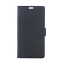 Pouzdro pro Apple iPhone Xs Max - stojánek + prostor pro platební karty - umělá kůže - černé