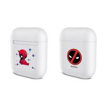 Pouzdro / obal MARVEL pro Apple Airpods - plastové - bílé - Deadpool