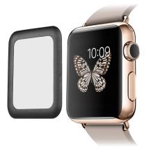 Tvrzené sklo (Tempered Glass) pro Apple Watch 42mm series 2 - 3D hliníkový rámeček - černé