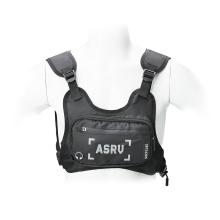 Pouzdro pro Apple iPhone + reflexní vesta na běhání + kapsa na drobnosti - látkové - černé