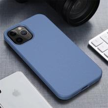 Kryt pro Apple iPhone 12 / 12 Pro - slaměné kousky - gumový - modrý