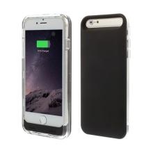 iFans baterie externí s krytem pro Apple iPhone 6 / 6S 3100mAh MFi certifikovaná - černá / průhledná