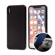 Kryt SULADA pro Apple iPhone Xs Max - gumový s magnetickým držákem - černý