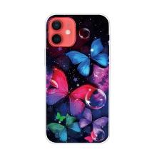 Kryt pro iPhone 12 / 12 Pro - gumový - psychedeličtí motýli