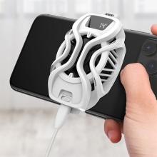 Herní chladič BASEUS Gamo pro Apple iPhone a další - termoelektrické chlazení + ventilátor - bílý