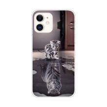 Kryt pro Apple iPhone 11 - gumový - odraz tygra