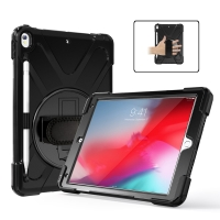 "Pouzdro pro Apple iPad Air 3 (2019) / Pro 10,5"" - outdoor / odolné - stojánek + rukojeť / poutko - černé"