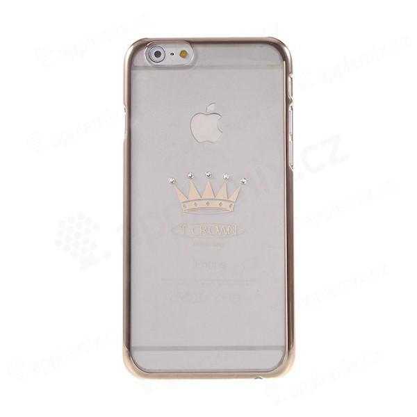 Plastový kryt X-FITTED pro Apple iPhone 6   6S - průhledný + stříbrný  rámeček 7fcba0ae377