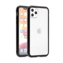 Kryt pro Apple iPhone 11 Pro Max - magnetické uchycení - skleněný / kovový - černý
