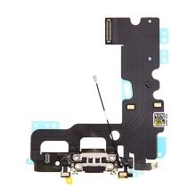 Napájecí a datový konektor s flex kabelem + GSM anténa + mikrofony pro Apple iPhone 7 - černý - kvalita A+