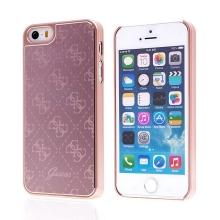 Kryt GUESS G pro Apple iPhone 5 / 5S / SE - plast / hliník - Rose Gold