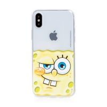 Kryt Sponge Bob pro Apple iPhone - gumový - potutelný Sponge Bob