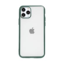 Kryt FORCELL Electro Matt pro Apple iPhone 11 Pro Max - gumový - průhledný / zelený