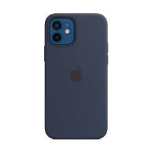 Originální kryt pro Apple iPhone 12 / 12 Pro - silikonový - námořnicky tmavomodrý