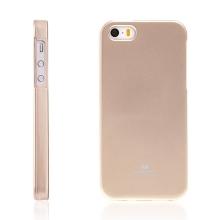 Gumový kryt Mercury pro Apple iPhone 5 / 5S / SE - jemně třpytivý - zlatý