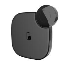 2v1 bezdrátová nabíječka / podložka Qi HOCO pro Apple iPhone / Watch / AirPods - bílá