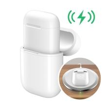 Pouzdro pro Apple AirPods pro bezdrátové Qi nabíjení - plast / silikon - bílé