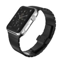 Řemínek pro Apple Watch 44mm Series 4 / 5 / 6 / SE / 42mm 1 / 2 / 3 - ocelový - černý