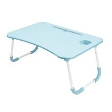 Stolek / podložka pod Apple MacBook + držák pro iPad + držák nápoje - LTD lamino - modrý
