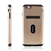 Kryt MERCURY iPocket pro Apple iPhone 6 Plus / 6S Plus plasto-gumový zlatý