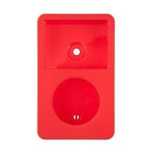 Plastové pogumované pouzdro pro Apple iPod classic 80GB / 120GB / 160GB (Late 2009) - červené