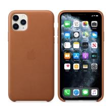 Originální kryt pro Apple iPhone 11 Pro Max - kožený - sedlově hnědý
