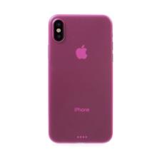 Kryt pro Apple iPhone X - ochrana čočky - ultratenký - plastový - růžový