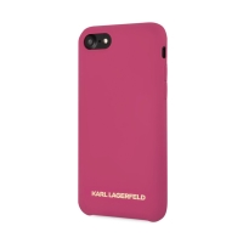 Kryt KARL LAGERFELD pro Apple iPhone 7 / 8 - silikonový - růžový
