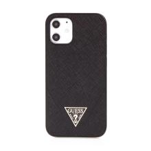 Kryt GUESS Safiiano V pro Apple iPhone 12 mini - umělá kůže - černý
