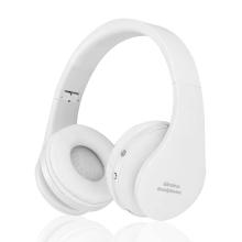 Sluchátka Bluetooth bezdrátová NX-8252 - mikrofon + ovládání - 3,5mm jack vstup - bílá