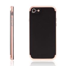 Kryt TOTU pro Apple iPhone 7 / 8 gumový / růžově zlatý (Rose Gold) plastový rámeček - černý