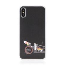 Kryt HOT WHEELS - pro Apple iPhone Xs Max - gumový - formule - černý
