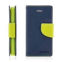Ochranné pouzdro pro Apple iPhone 5 / 5S / SE Mercury Goospery s prostorem pro umístění platebních karet - modro-zelené