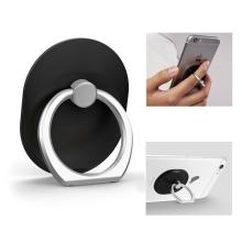 Stojánek / prsten na zadní stranu Apple iPhone - kovový - černý