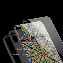 Kryt NILLKIN Briliance pro Apple iPhone XS Max - gumový / skleněný - barevná vitráž