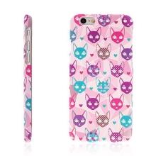 Kryt pro Apple iPhone 6 / 6S plastový barevné kočky růžový