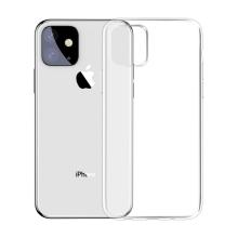 Kryt BASEUS pro Apple iPhone 11 - gumový - průhledný